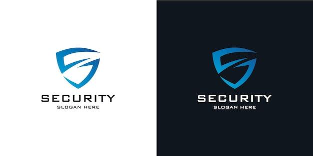 Elegante logo a scudo minimalista in stile tecnico