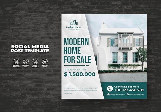 Elegante casa da sogno moderna casa in affitto vendita campagna immobiliare social media post modello