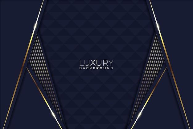 Elegante e moderno lusso diagonale sovrapposto a strati blu scuro con sfondo dorato incandescente