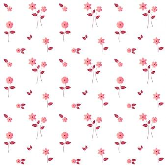Modello senza cuciture del fiore rosa moderno elegante