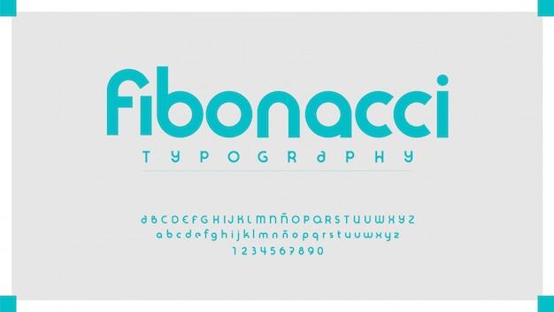 Carattere tipografico moderno ed elegante