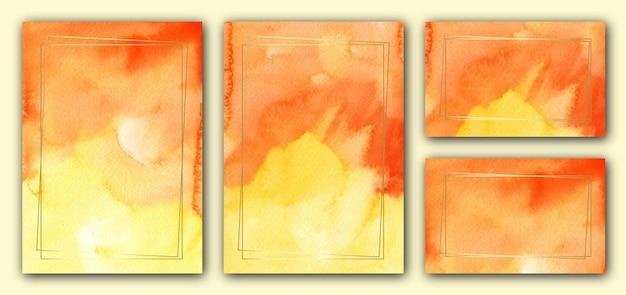 Modello di carta di invito matrimonio arancione elegante