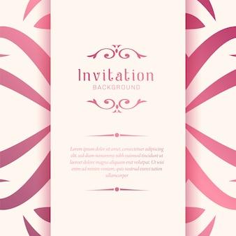 Priorità bassa elegante del modello dell'invito di nozze ornamentali