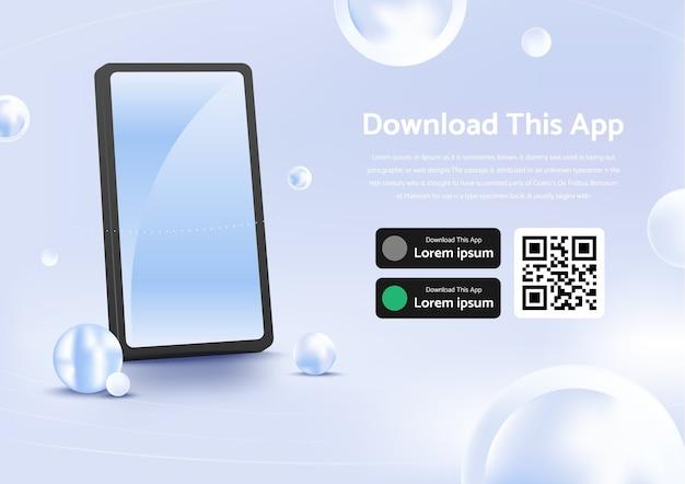 Elegante banner pubblicitario della pagina per il download dell'app