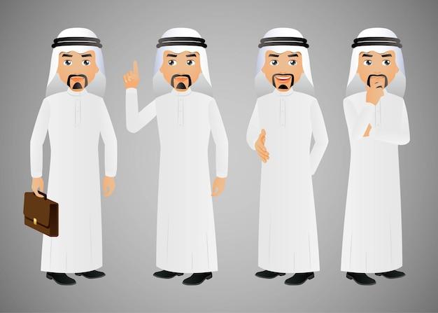 Uomo d'affari arabo della gente elegante