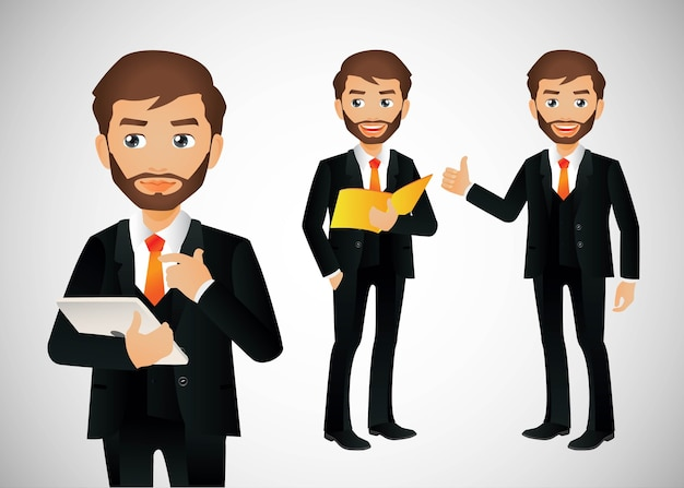 Elegante persone-uomo d'affari