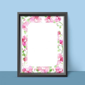 Design fama di foto elegante con fiori colorati color acqua.