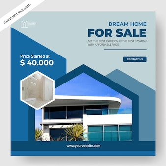 Elegante modello di banner per la promozione di proprietà
