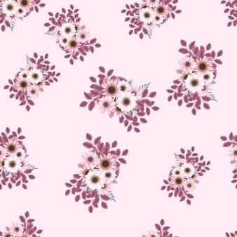 Elegante romantico motivo floreale senza soluzione di continuità mazzo di fiori per la stampa