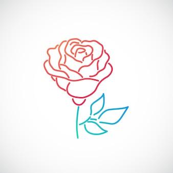 Elegante icona del fiore di rosa