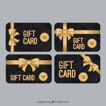 Elegante coupon di vendita con la collezione arco dorato