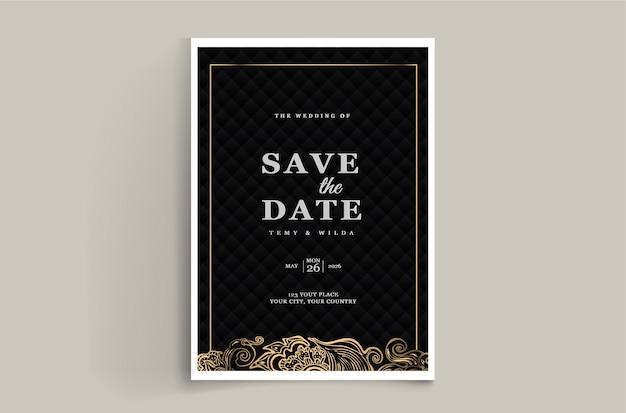 Elegante set di modelli di biglietti d'invito per matrimonio salva la data