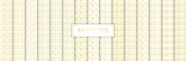Elegante collezione di motivi geometrici senza soluzione di continuità