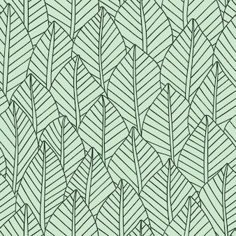 Foglie eleganti senza cuciture, illustrazione vettoriale vector