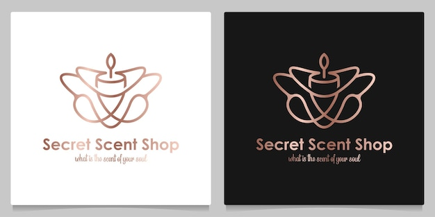 Elegante profumo segreto profumo fragranza naturale logo design