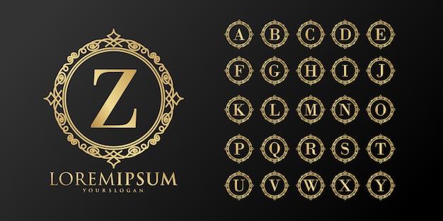 Collezione di logo monogramma carattere set elegante
