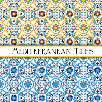 Eleganti piastrelle con motivi in stile siciliano