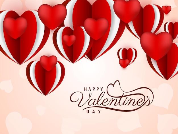 Elegante elegante sfondo di amore di san valentino felice