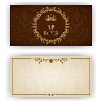Modello elegante per carta di invito di lusso Vettore Premium
