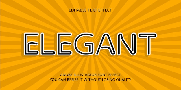 Elegante effetto carattere testo