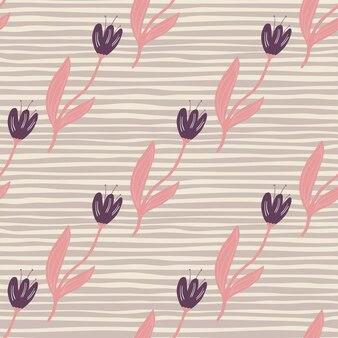 Modello senza cuciture elegante tulipano. carta da parati decorativa con ornamenti floreali.
