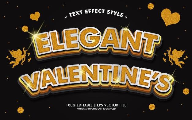 Elegante stile di effetti del testo di san valentino