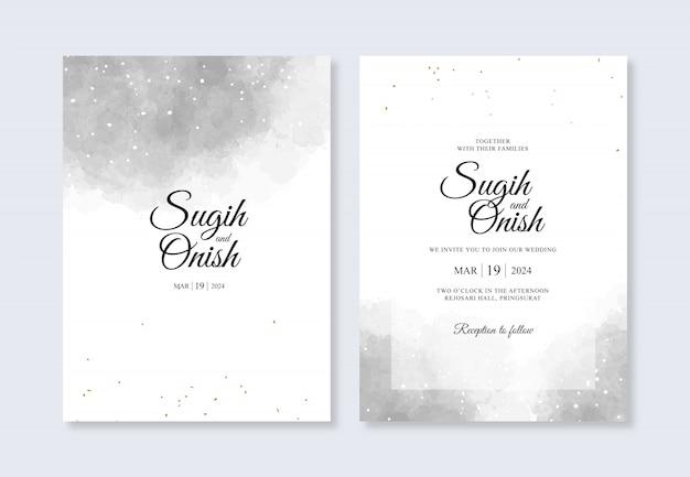 Elegante acquerello splash per modello di invito carta di nozze