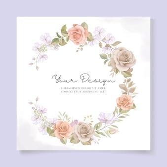 Modello di carta di matrimonio elegante