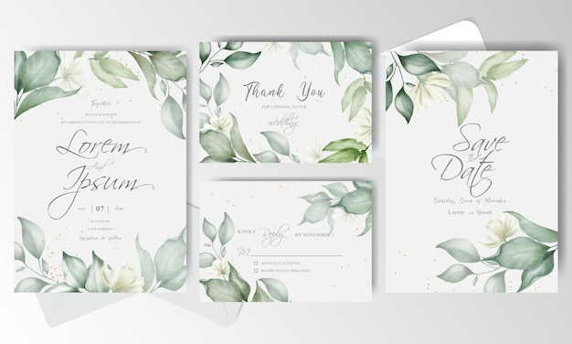 Elegante modello di carta di invito a nozze con disposizione floreale
