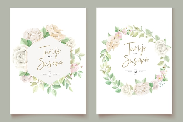 Elegante set di carte invito a nozze