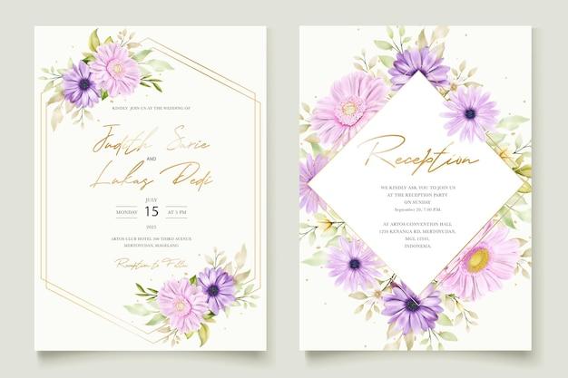 Elegante biglietto d'invito per matrimonio