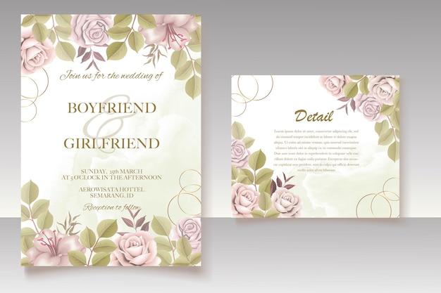 Design floreale elegante invito a nozze