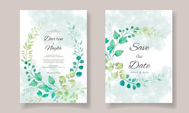 Modello di invito matrimonio elegante con decorazioni floreali
