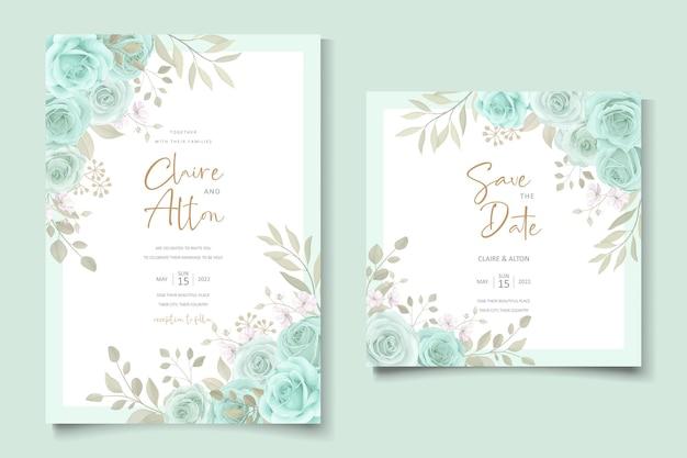 Elegante modello di invito a nozze