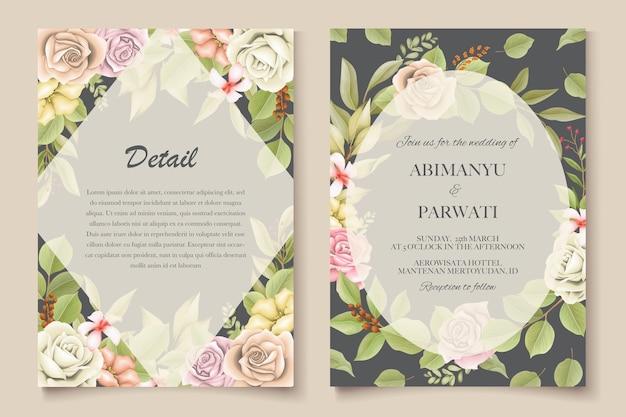 Invito a nozze elegante con fiori