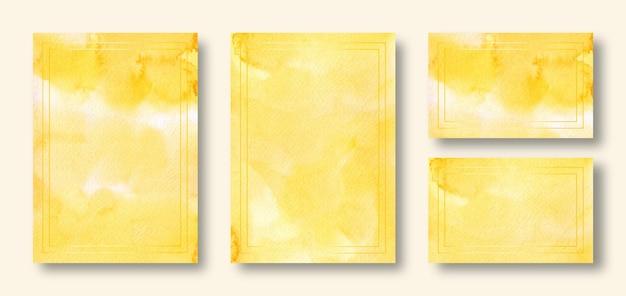 Set di carte di invito matrimonio giallo elegante