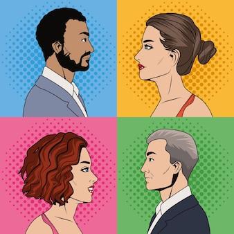 Eleganti quattro persone