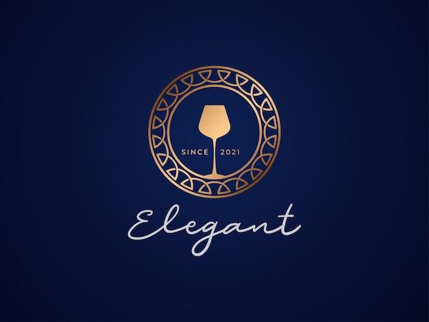 Elegante concetto di design del logo del ristorante
