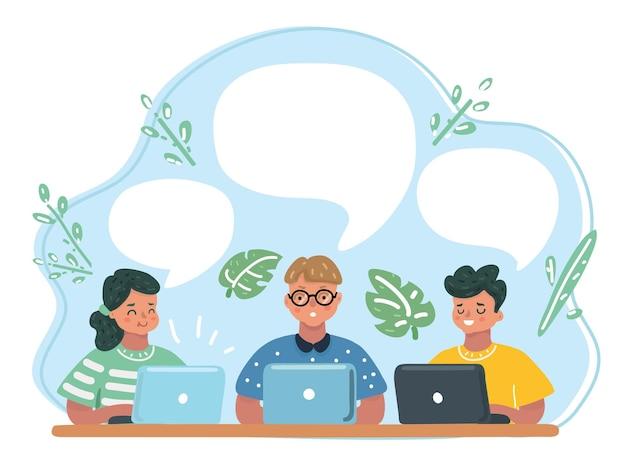 Alunni delle scuole elementari in classe informatica