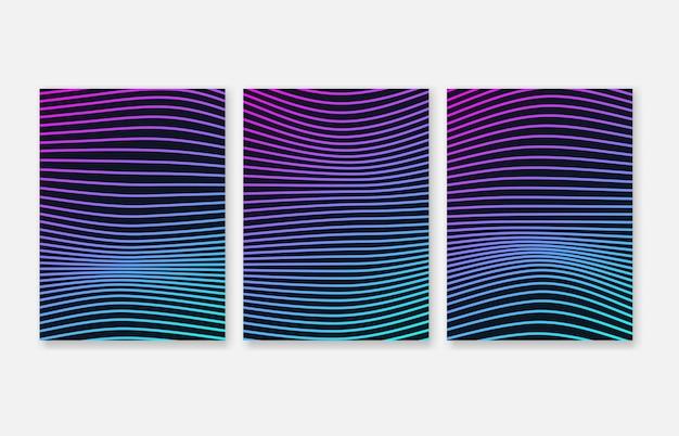 Elementi gradiente linee d'onda per presentazione aziendale