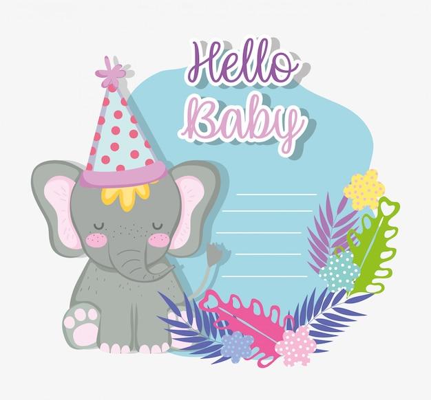 Elefante celebrazione felice baby doccia