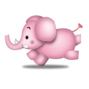 Elefante simpatico cartone animato animali barbie personaggio bambola dolce modello emozione illustrazione clipart