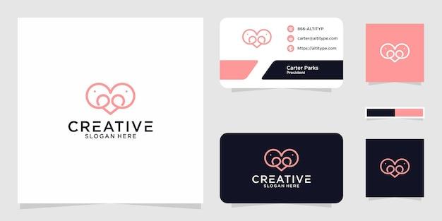 Il design grafico del logo elefante amore per altri usi è perfetto