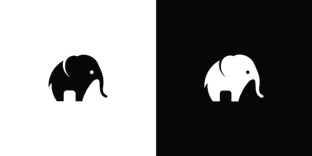 Vettore di disegno di logo di vettore di elefante vettore premium