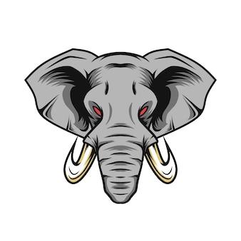 Vettore di elefante per logo mascotte e altri usi