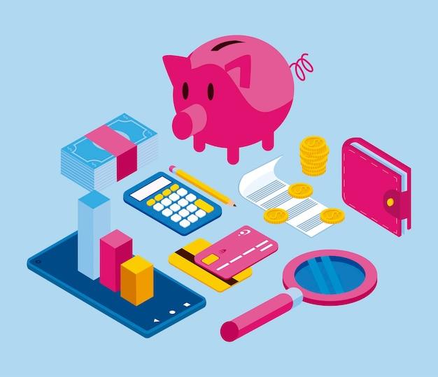 Undici icone delle finanze personali