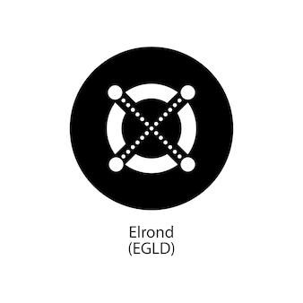 Elrond decentralizzato blockchain internet-of-things pagamenti cryptocoin vector logo icon