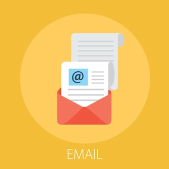 Campagna di email marketing isolata su giallo