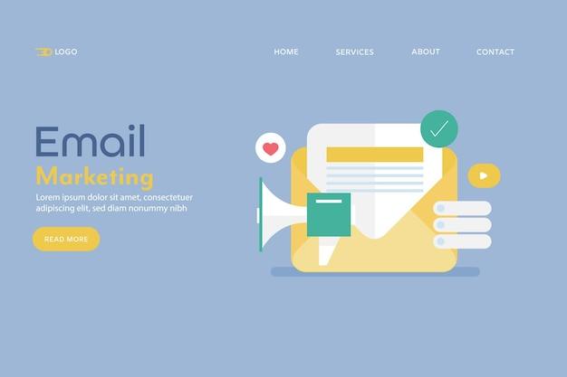 Concetto di email marketing