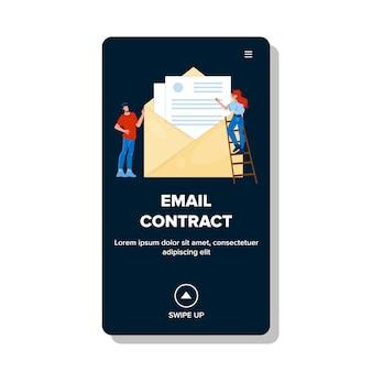 Invio di e-mail a persone d'affari